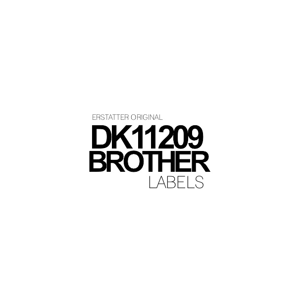 DK11209 Brother 62mm x 29 mm - 800 labels Kompatibel
