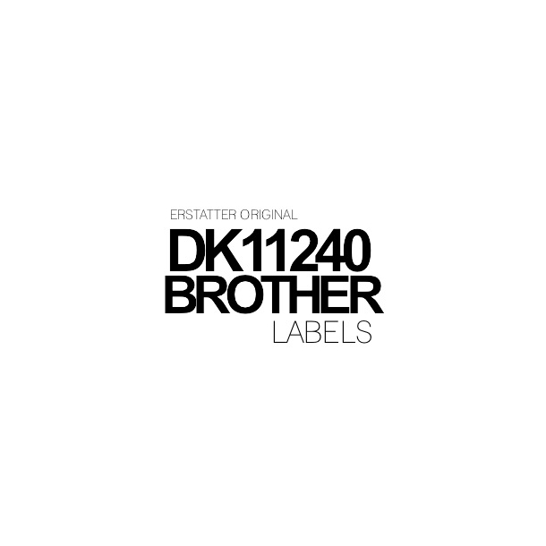 DK11240 Brother 51mm x 102 mm - 600 labels Kompatibel