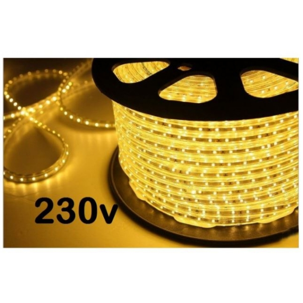 led strip 230v 5 meter 60 led pr meter led strips 230v ledstrips dk. Black Bedroom Furniture Sets. Home Design Ideas