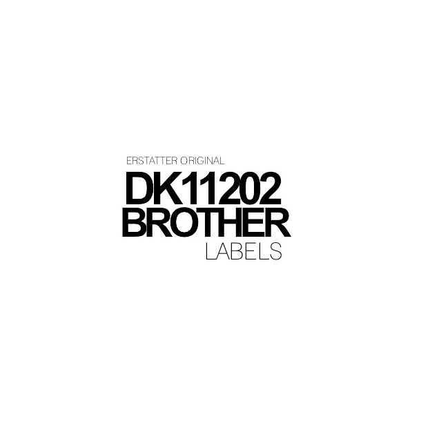 DK11202 Brother 62mm x 100 mm - 300 labels Kompatibel