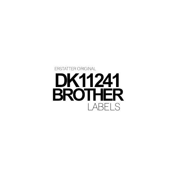 DK11241 Brother 102mm x 152 mm - 200 labels Kompatibel