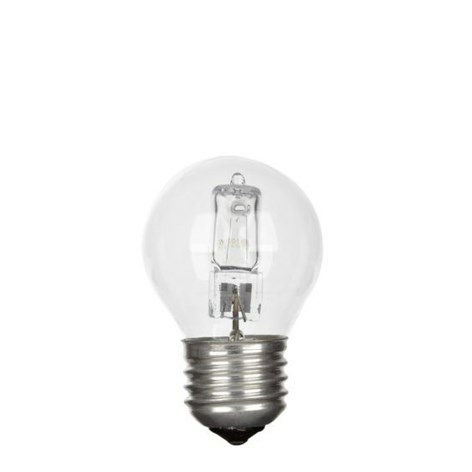E27 Eco Halogen, P45 20 watt, 230v - E27 Halogen