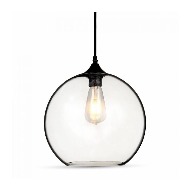 byhome globe lampe glas gennemsigt diameter 30 cm. Black Bedroom Furniture Sets. Home Design Ideas